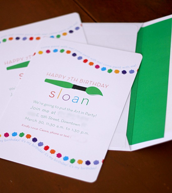 Hi Sugarplum | Art Party Invitations