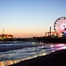 Sunset at Santa Monica Pier by ishell