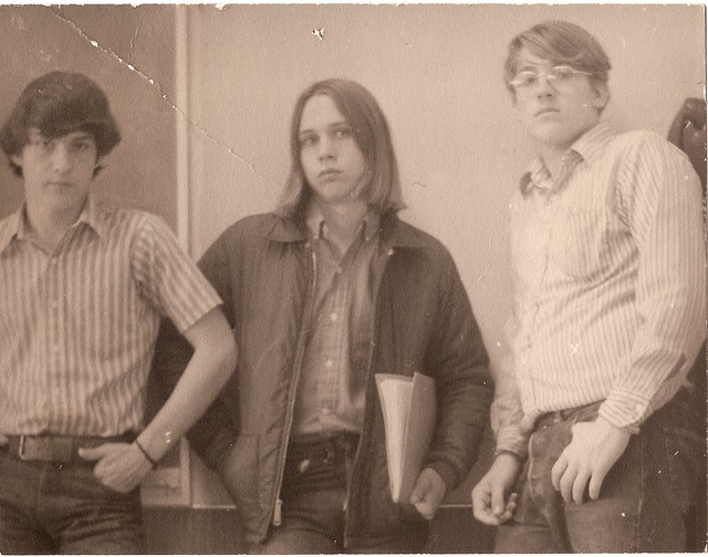 Photo:1971, Dave (?) Mark K. and me By wbaiv