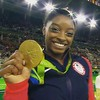 The smile and winning gold today Simone Biles floor exercise #simonebiles #floorexercise #usa #goldmedal #smiles #gymnastics #instagood #insta #instalike #like4like #follow4follow #followme #instagramers #bloggers #southamerica #brazil #Rio #olympics #ath