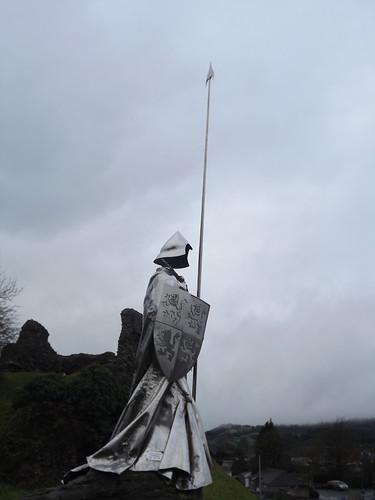 statue wales knight llandovery