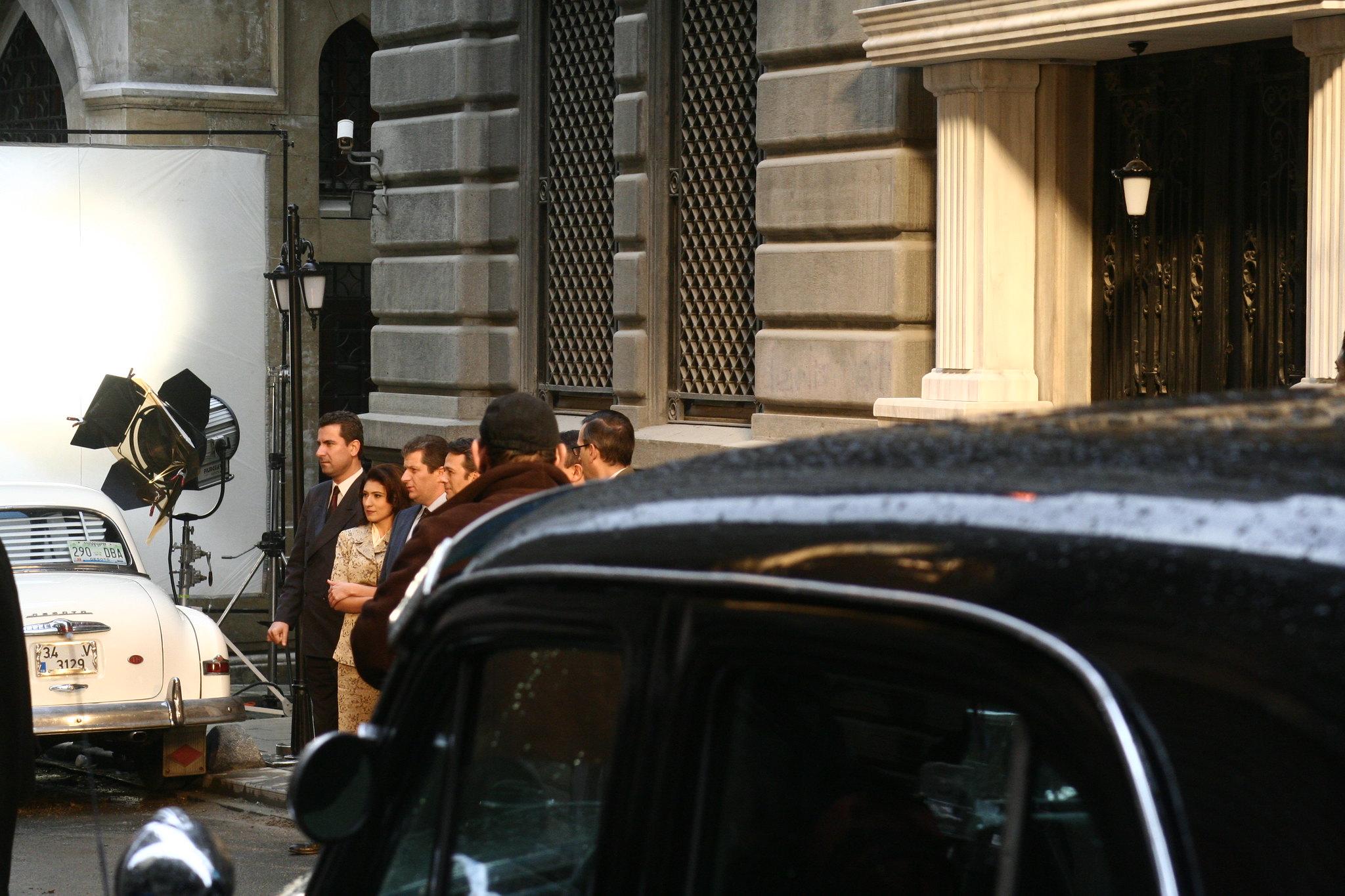 Filming on Bankalar Caddesi