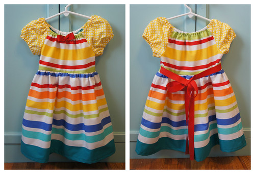 Caitlyn's Stripe Dress - Simplicity #0351