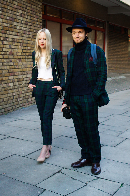 Street Style - Alice Zielasko & Jonathan Daniel Pryce, London Collections: Men