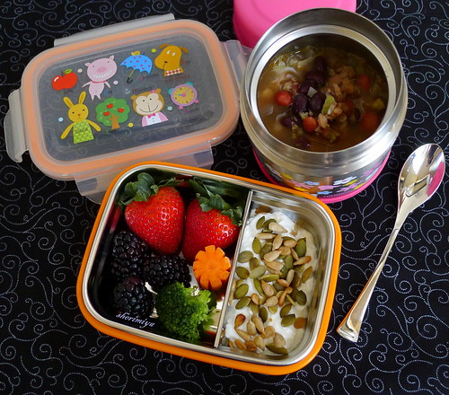 Black Bean and Sausage Stew Bento by sherimiya ♥