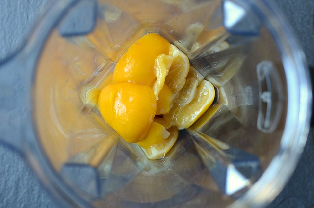 preserved lemons in the blender