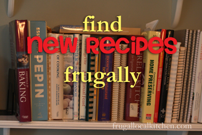 how to find new recipes frugally