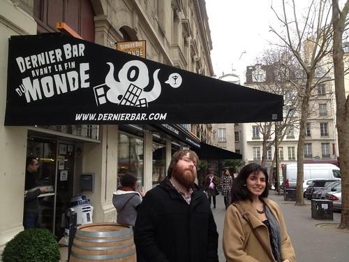 Hanging out at Le Dernier Bar avant la Fin du Monde