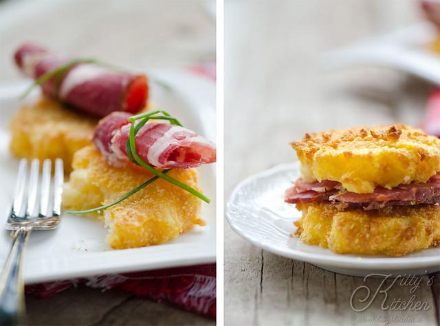 polenta fritta sadwich