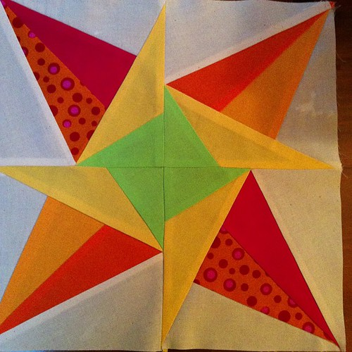 January's paper pieced star by Scrappy quilts