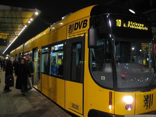Трамвай в Дрездене