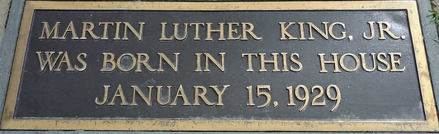 mlk-birth-house plaque