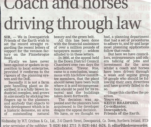 Finnebrouge Coach and Horses through planning system FoE Oct 2011 by CadoganEnright