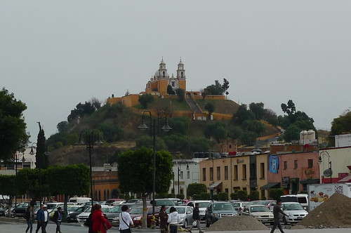 The Great Pyramid of Cholula with Church of Our Lady of Remedies (at  top) - Cholula, Mexico