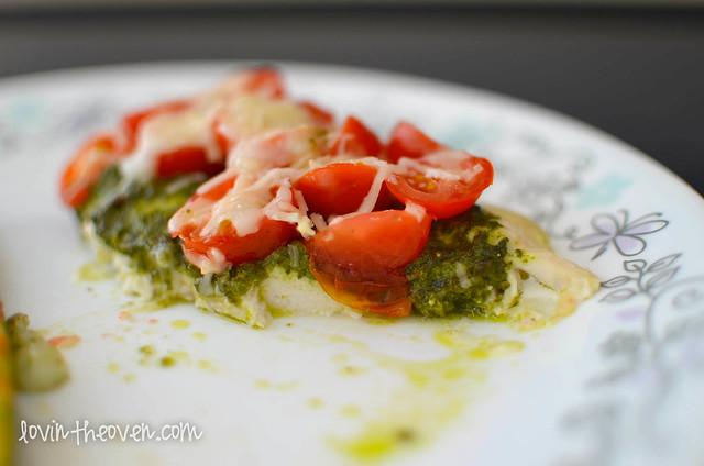 Skinny Chicken Pesto Bake - Lovin' From The Oven