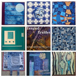 Tangled Textiles, challenge #9: blue