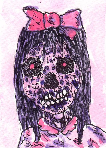 Strangely Pink Zombie by stephro