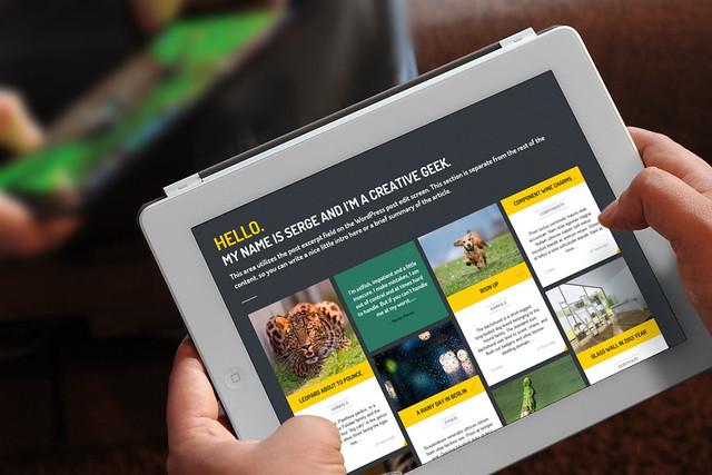 Photo:Streak - Responsive WordPress Theme - Tablet 2 By:ZERGE_VIOLATOR