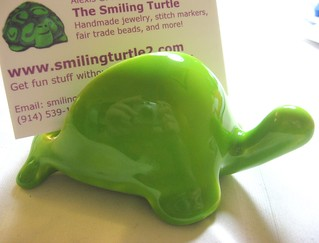 turtle biz card holder