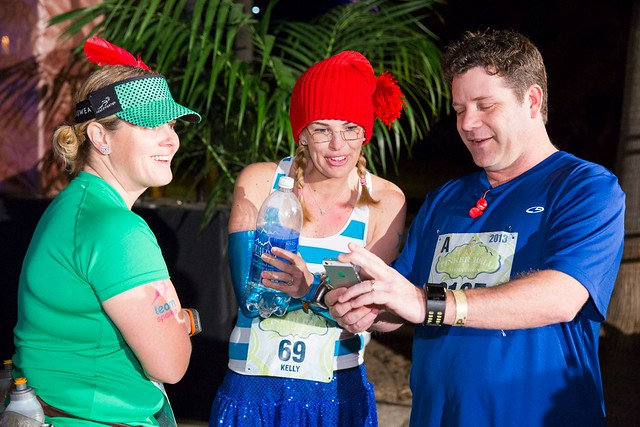 @AngryJulie @according2kelly and @SeanAstin at the Tinker Bell Half Marathon 2013. Photo by @runDisney