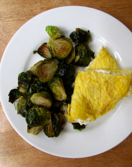 Cream Cheese Omelet Brussels Sprouts