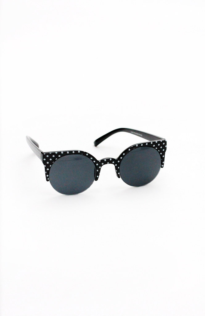 Polka dot cat eye sunglasses by Tarte Vintage at shoptarte.com