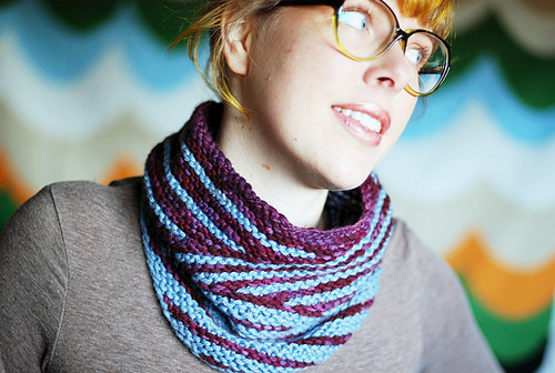 small wide stripy cowl