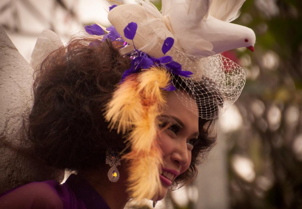 Head Shot of the Lady in Purple