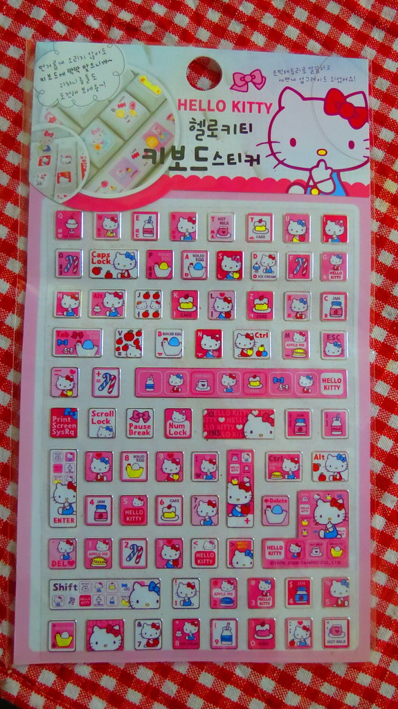 Hello Kitty Keyboard Stickers