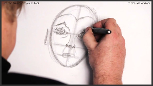 learn how to draw a womans face 014