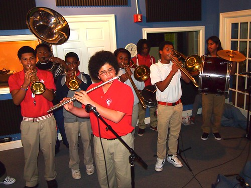 Red Wolf Brass Band performing for Cuttin' Class