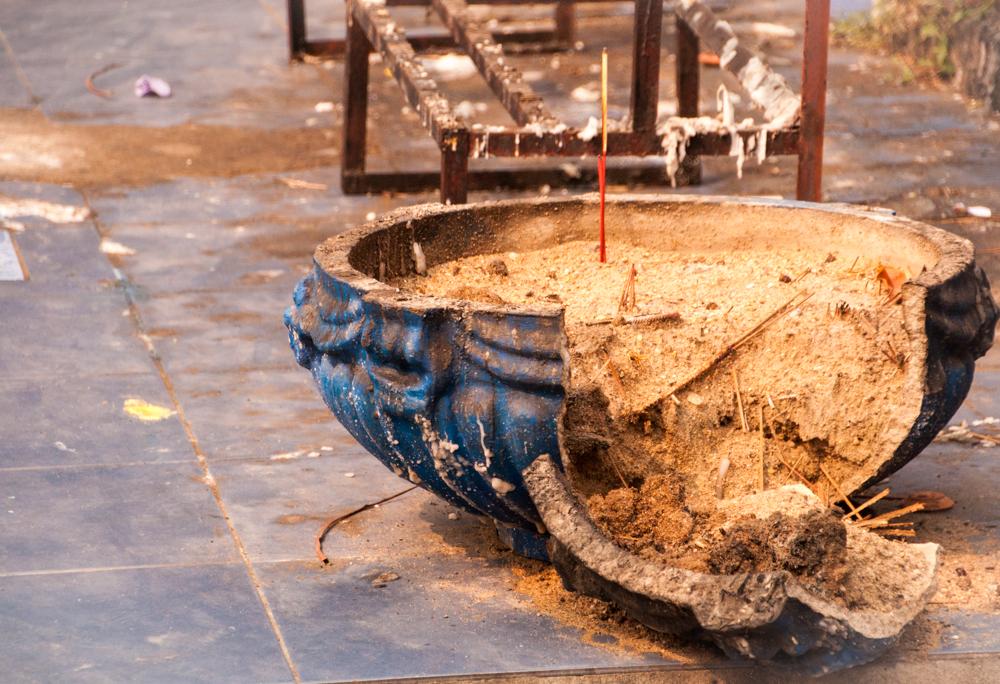 Broken Incense Jar -- Wat Pa Pao, Chiang Mai