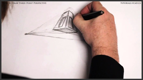 learn how to draw three point perspective 008
