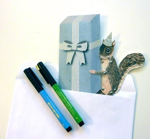 Paper Puppet Birthday Card