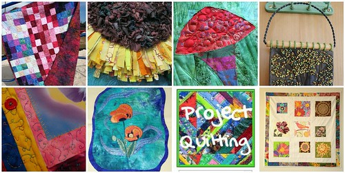 7 quilts created for the Project QUILTING Annie's Vision Challenge
