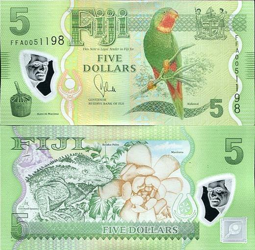 5 Dolárov Fidži 2012-13