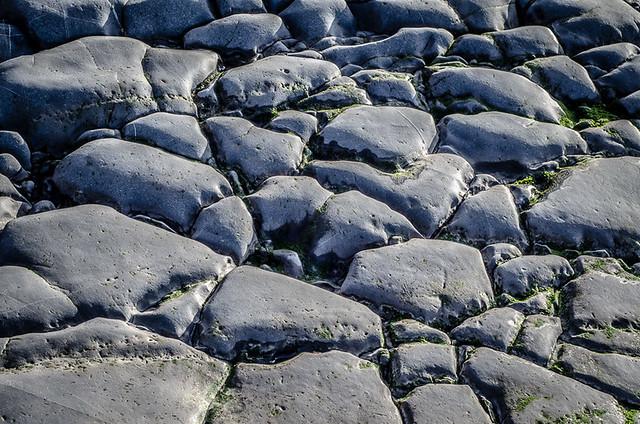 Rock pavement at Playa de Vega, Asturias