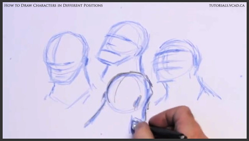 learn how to draw characters in different positions 008