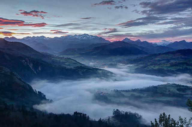 Los Picos de Europa at Sunrise