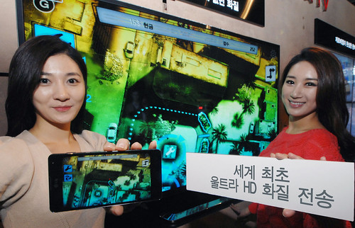 울트라 HD 화질 전송 기술 개발 시연