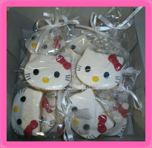 Bolachas embaladas Kitty Laço rosa 12 by Osbolosdasmanas