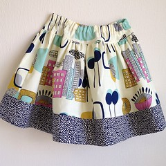 Finished second skirt! My baby needs new clothes for spring. #skirt #alexanderhenry