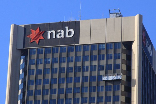 Window washers descend the NAB Building