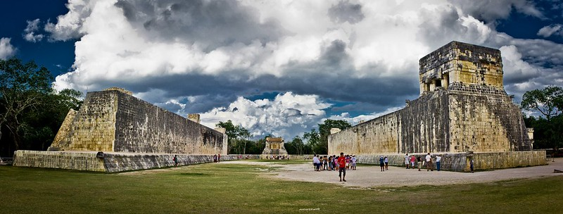 The Great Ball Court of Chichen Itza, Yucatán - Mexico