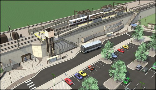 Rendering of the Gold Line Federal Station