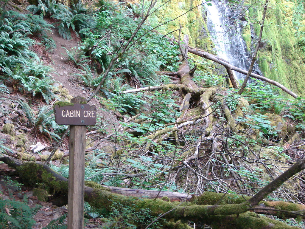 Sign for Cabin Creek Falls