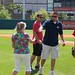 Optimist Bike Giveaway Linda Dawley Throwing Out First Pitch