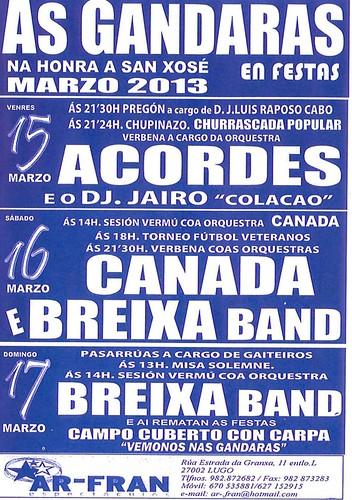 Lugo 2013 - Festas de San Xosé nas Gándaras - cartel