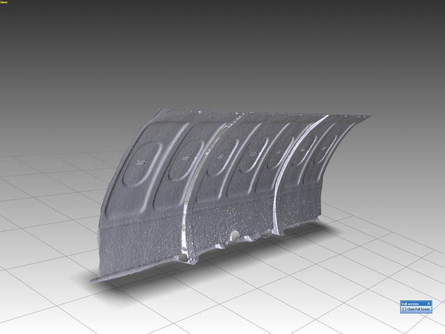 3D polygon model of aircraft side panel