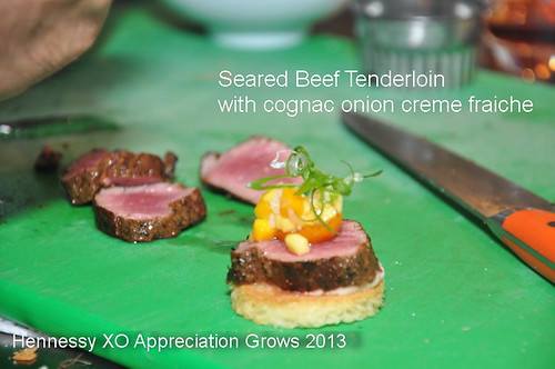 Hennessy XO Appreciation Grows 2013 beef tenderloin